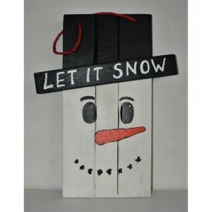 Ξύλινος χιονάνθρωπος κρεμαστός