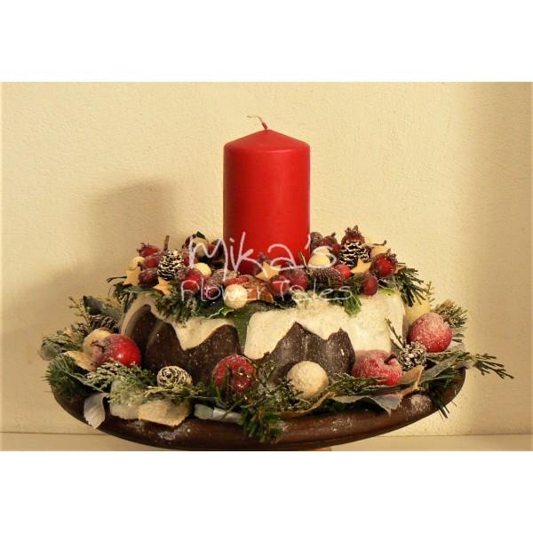 """Χριστουγεννιάτικο διακοσμητικό """"πιατέλα με κέηκ"""""""