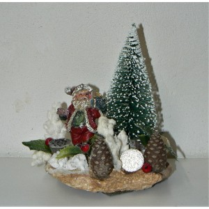 """Χριστουγεννιάτικο διακοσμητικό """"Άη Βασίλης"""""""
