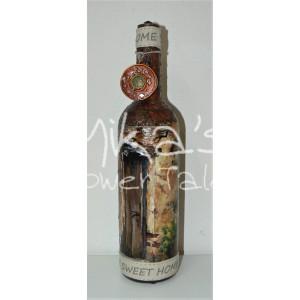 """Διακοσμητικό μπουκάλι """"Ξύλινη πόρτα"""" ΙΔΙΑΙΤΕΡΑ ΔΙΑΚΟΣΜΗΤΙΚΑ ΜΠΟΥΚΑΛΙΑ"""