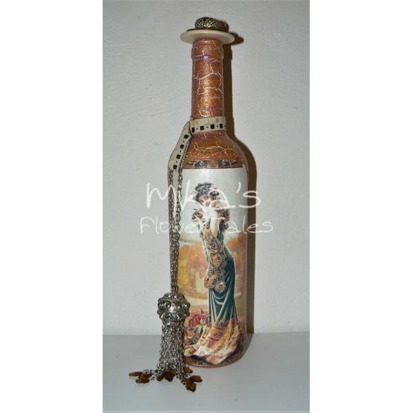 Διακοσμητικό μπουκάλι ''Χρυσή κυρία'' ΙΔΙΑΙΤΕΡΑ ΔΙΑΚΟΣΜΗΤΙΚΑ ΜΠΟΥΚΑΛΙΑ