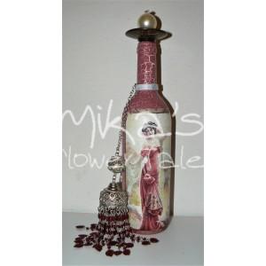 Διακοσμητικό μπουκάλι ''Κόκκινη κυρία'' ΙΔΙΑΙΤΕΡΑ ΔΙΑΚΟΣΜΗΤΙΚΑ ΜΠΟΥΚΑΛΙΑ