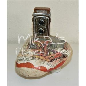 Πέτρα με μινιατούρα φωτογραφική μηχανή αντίκα PRESS-PAPIER (ΠΡΕΣ- ΠΑΠΙΕ)