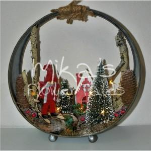 Χριστουγεννιάτικο διακοσμητικό σε μεταλλική βάση