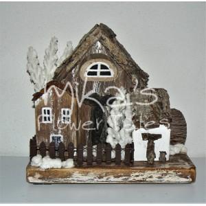 """Διακοσμητικά σπιτάκια """"χιόνι στο χωριό"""""""