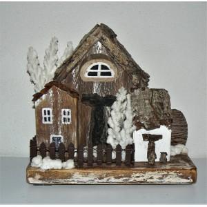 Χριστουγεννιάτικα σπιτάκια (τρία σπίτια)