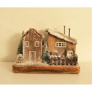 Χριστουγεννιάτικα σπιτάκια (δύο σπίτια)